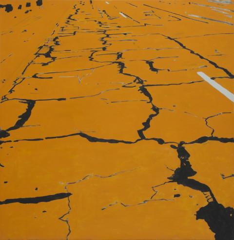 2004 Orange Crack 174 x 170 cm Klein